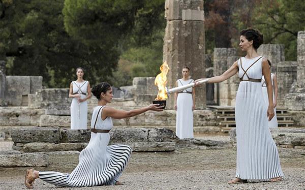 平昌冬奧會聖火採集儀式在奧運會發源地舉行