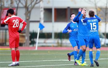 中國足協U20選拔隊出徵德國首戰失利