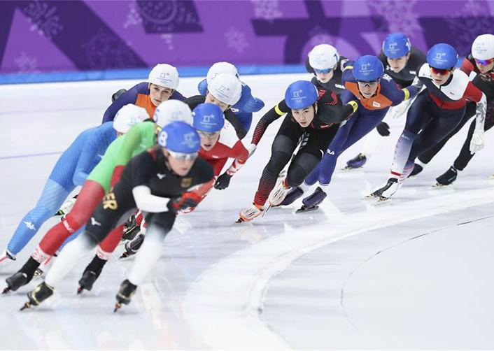 速度滑冰——女子集體出發賽況