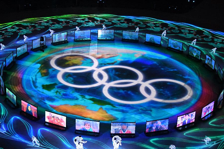 """靚圖來了!這就是平昌冬奧會閉幕式上的驚艷""""北京8分鐘"""""""