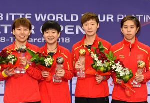 丁寧劉詩雯談卡塔爾公開賽女乒表現:團隊的力量