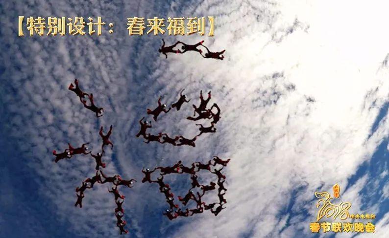 """春晚特别节目《春来福到》幕后揭秘:空中跳伞拼""""福""""字究竟有多难?"""