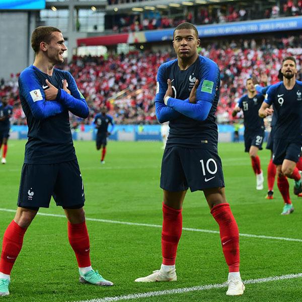 C组:法国队姆巴佩进球