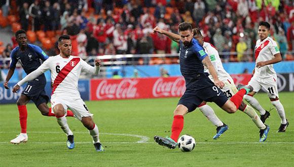 C组:法国队胜秘鲁队