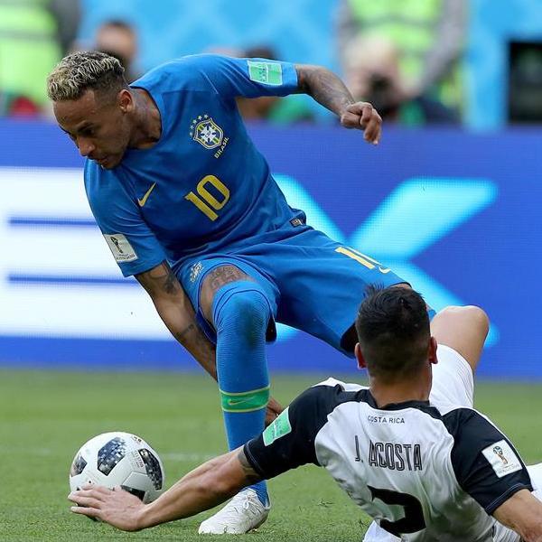 E组:巴西队对阵哥斯达黎加队