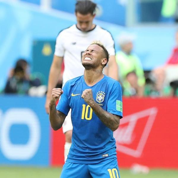 内马尔锁定胜局,巴西队2-0哥斯达黎加队