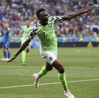 D组:尼日利亚队穆萨梅开二度