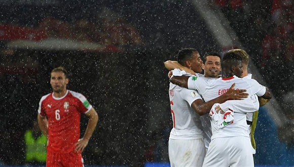 E组:瑞士队胜塞尔维亚队