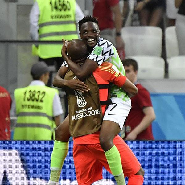 D组:尼日利亚队胜冰岛队