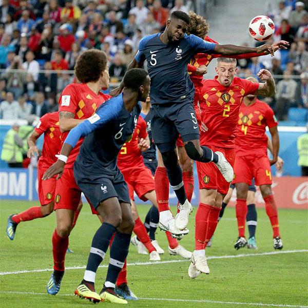 半决赛:法国队乌姆蒂蒂破门