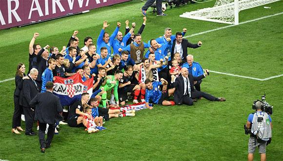 克羅地亞隊淘汰英格蘭隊 首進決賽