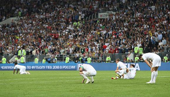 英格蘭隊加時惜敗 無緣決賽