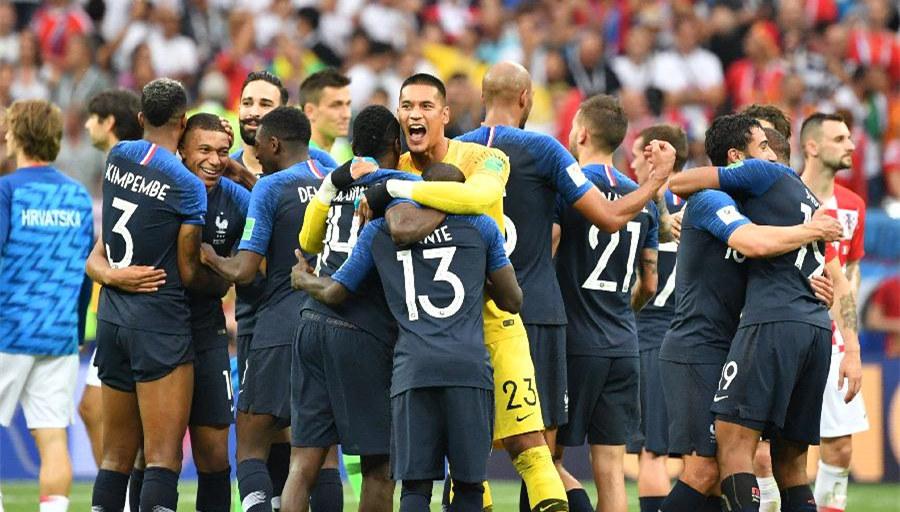 7.16世界杯快报:法国击败克罗地亚登顶世界杯