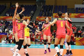 女排世錦賽:中國勝加拿大