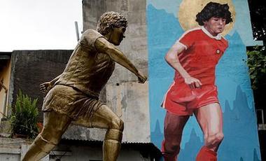 阿根廷為馬拉多納樹立新銅像慶生