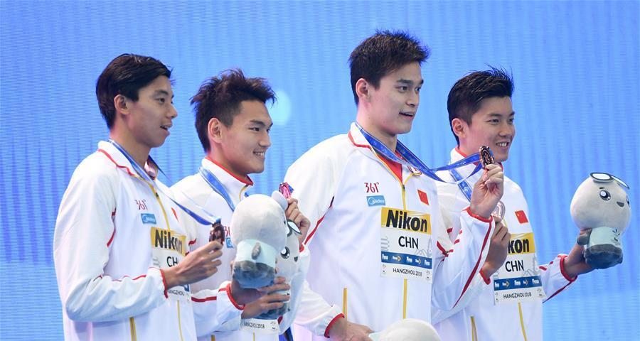 孫楊迎來短池世錦賽首秀,中國隊4×200米自接力超世界紀錄摘銅