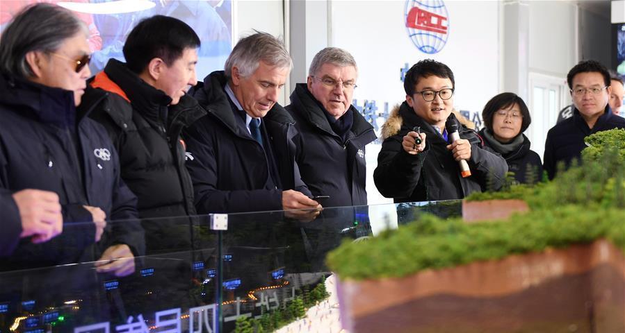 巴赫考察2022年北京冬奧會籌辦進展