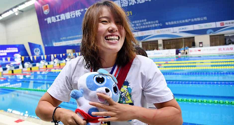 全國冠軍賽:傅園慧獲女子50米仰泳冠軍