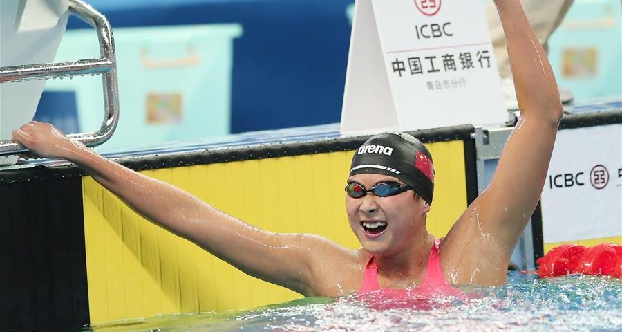 全国冠军赛:王简嘉禾800米自由泳创亚洲新纪录
