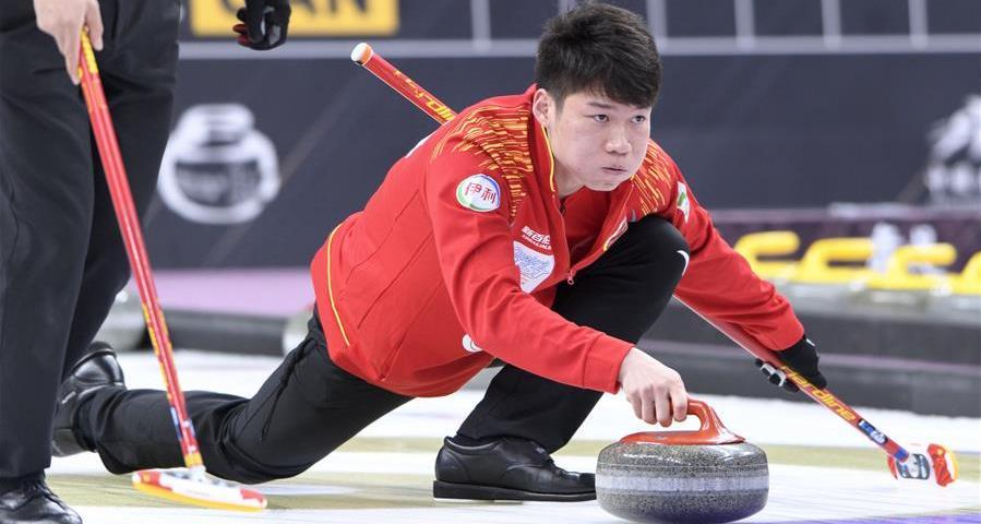 冰壶世界杯总决赛:中国队获得男子组亚军