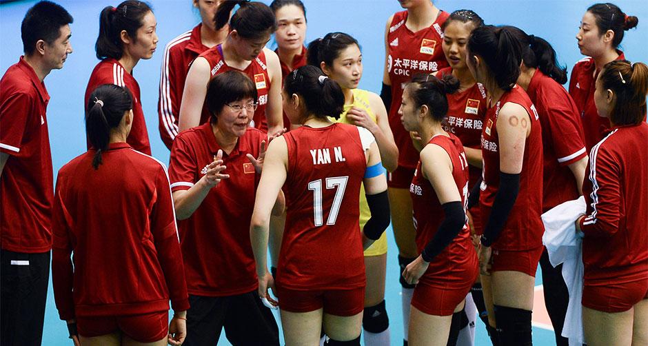 世界女子联赛澳门站:中国胜泰国