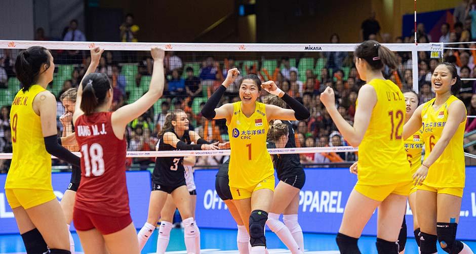 世界女子联赛澳门站:中国胜比利时