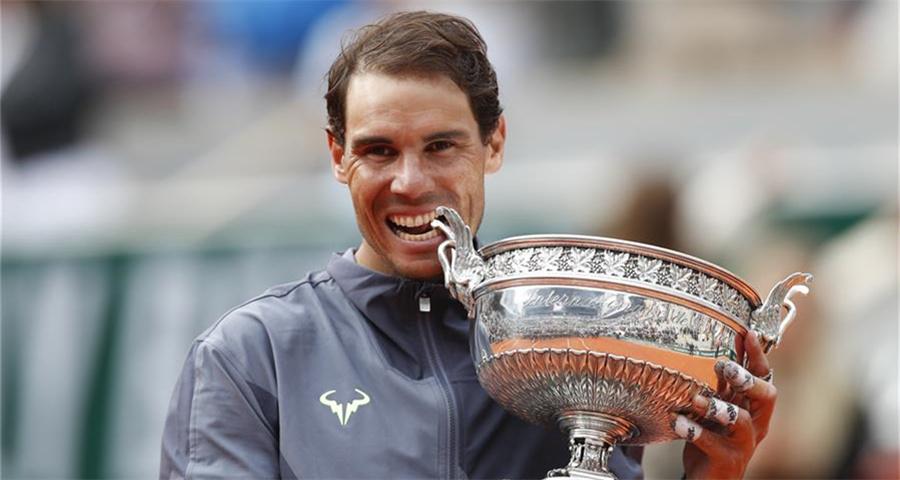 纳达尔夺得法网男单冠军
