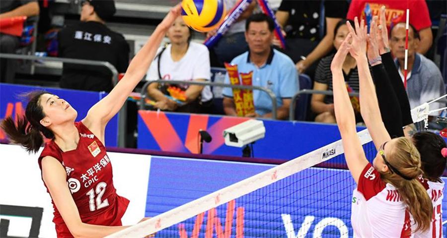 世界女排联赛江门站:中国队胜波兰队