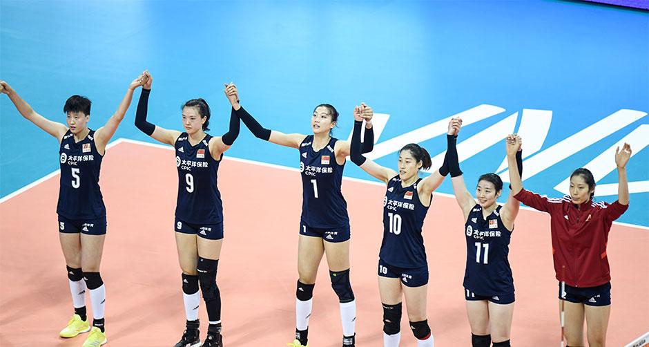 世界女排联赛宁波北仑站:中国女排三战全胜夺冠