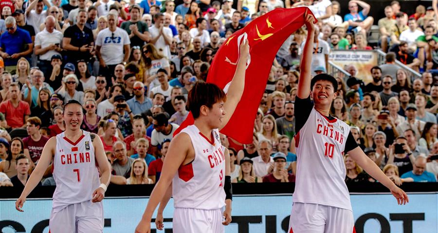 三人篮球世界杯女子组决赛:中国队夺冠