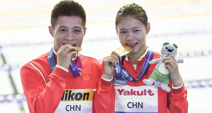 中国队首摘世锦赛混合团体跳水金牌