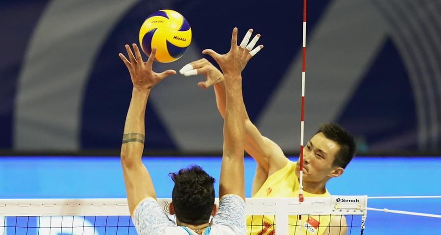 东京奥运会男排资格赛:中国队不敌阿根廷队
