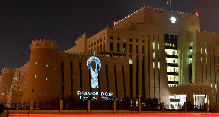 卡塔尔2022年足球世界杯发布会徽
