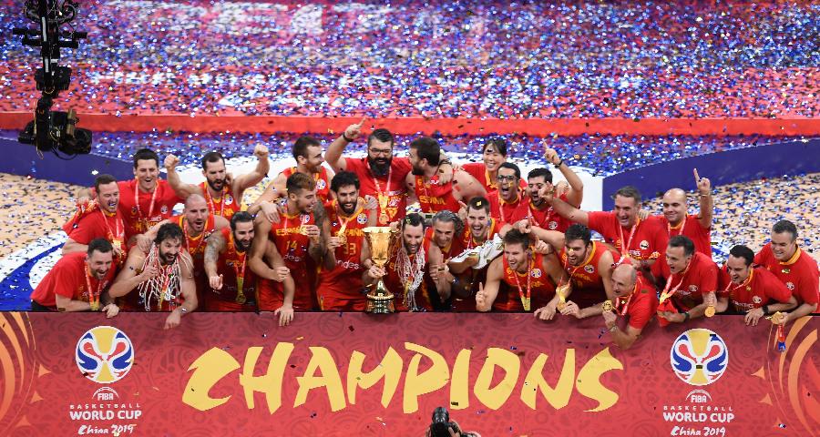 篮球世界杯决赛:西班牙队夺冠