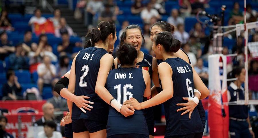 女排世界杯:中国队胜俄罗斯队