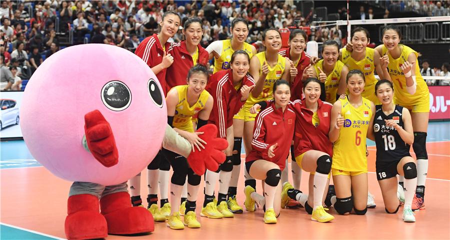 女排世界杯:中国队胜日本队