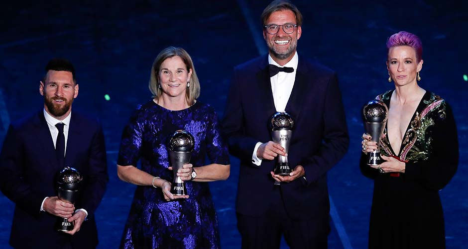 國際足聯舉行年度頒獎典禮