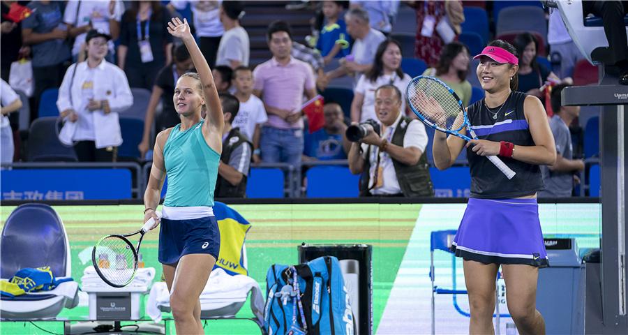 武汉网球公开赛:段莹莹/库德梅托娃获得女双冠军
