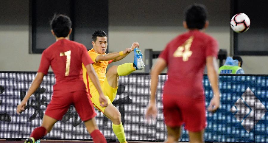 国际足球锦标赛:中国U22队胜印尼U22队