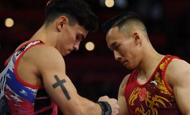 世錦賽男子全能決賽:中國選手無緣獎牌