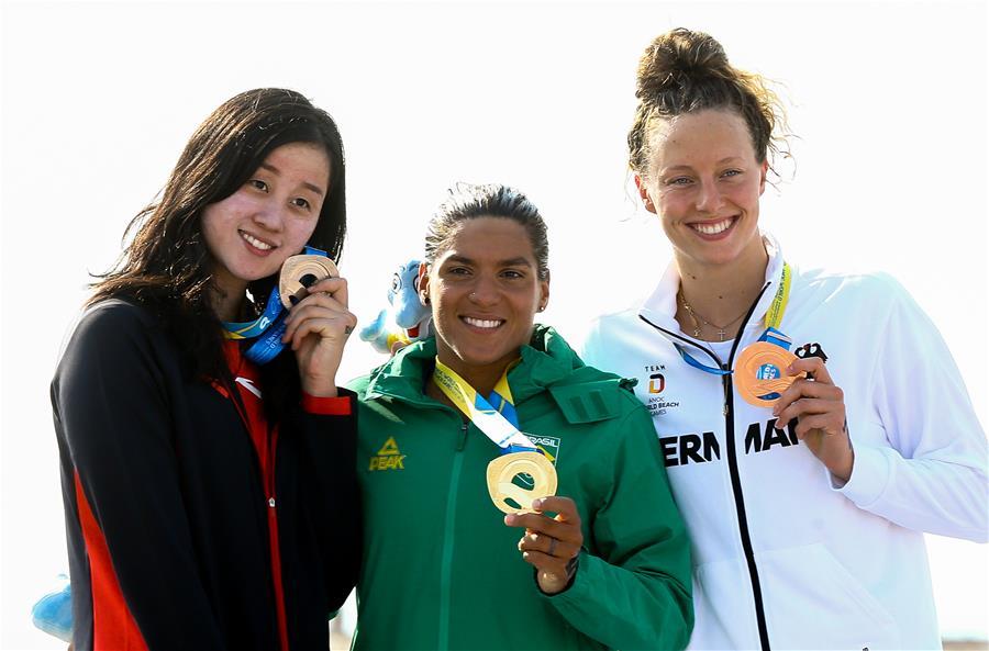 世界沙灘運動會:女子公開水域5公裏中國選手奪銀