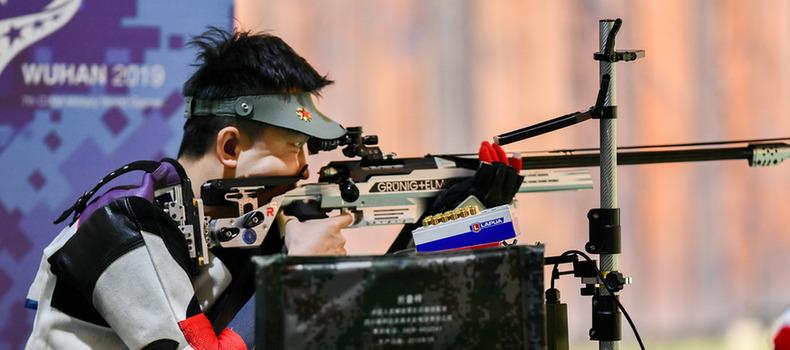 男子300米標準步槍三種姿勢個人賽:中國選手惠子程奪冠