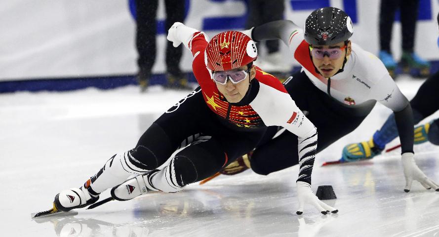 短道速滑世界杯盐湖城站:武大靖夺男子500米冠军