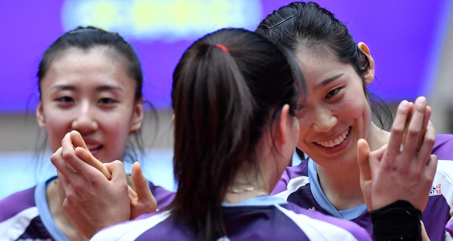 女排超级联赛:天津渤海银行胜河南银鸽投资