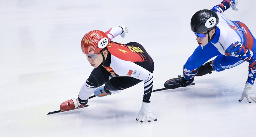 短道速滑世界杯名古屋站:中国队获男子5000米接力冠军