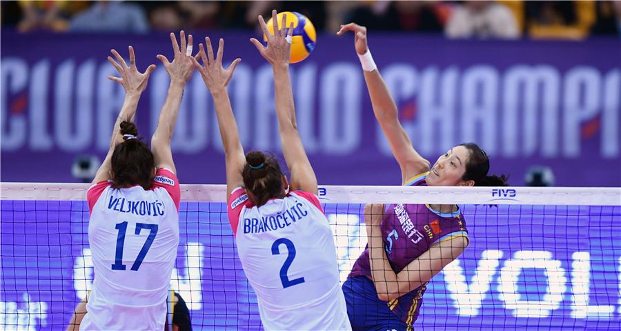 女排世俱杯:天津渤海银行队不敌诺瓦拉队