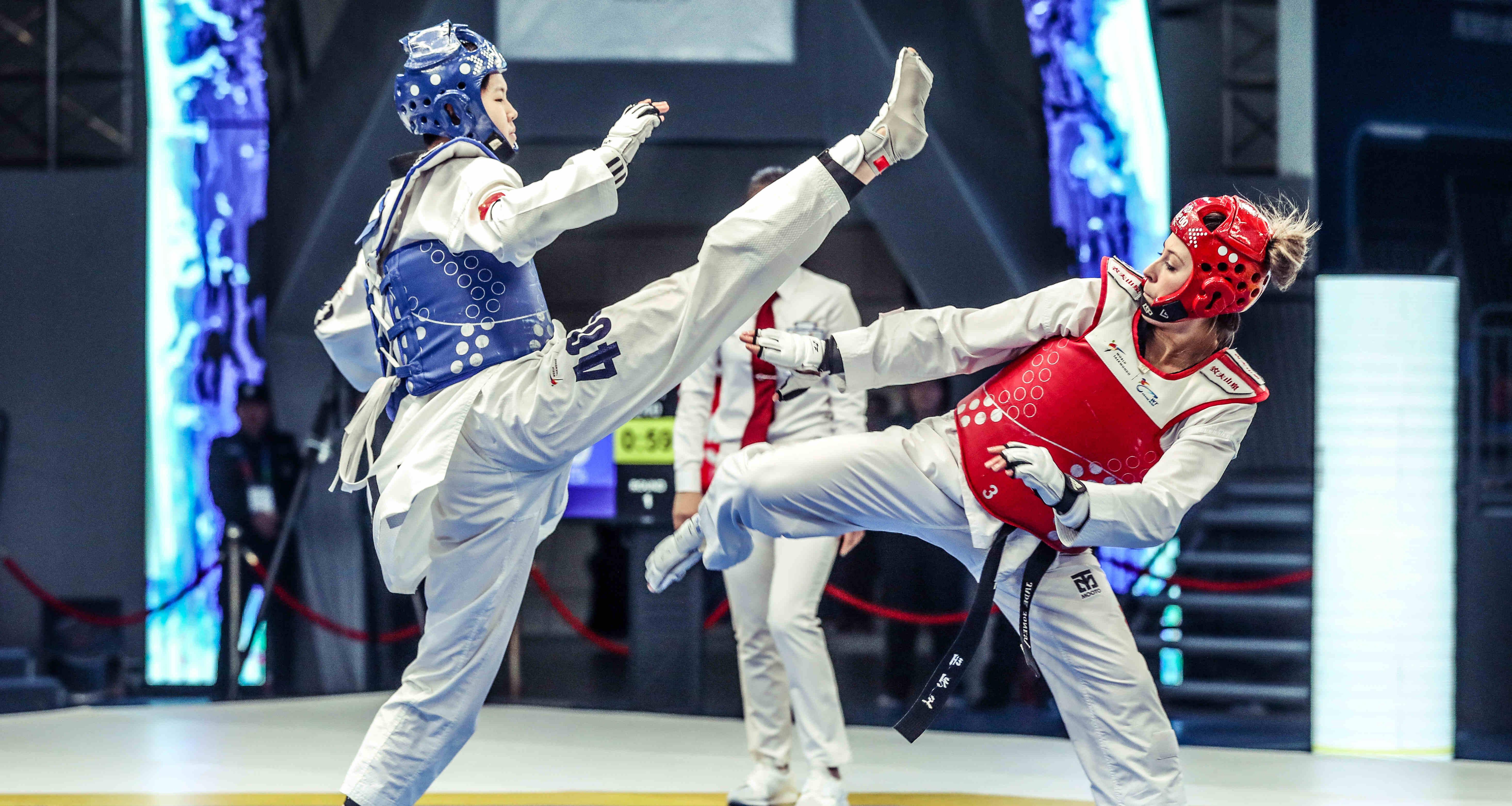 世界跆拳道大满贯冠军系列赛:周俐君获女子57公斤级冠军