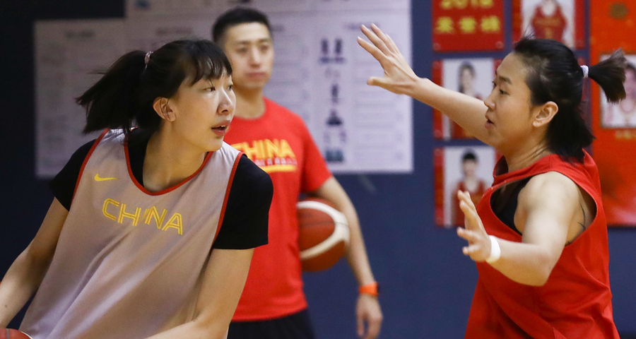 中國女籃新春媒體公開訓練在京舉行