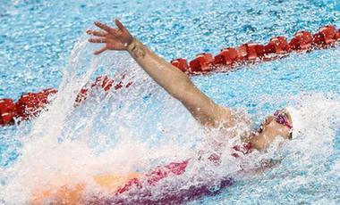 劉湘打破女子50米自由泳亞洲紀錄