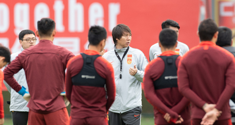 足球:李铁率领新一届国足集训